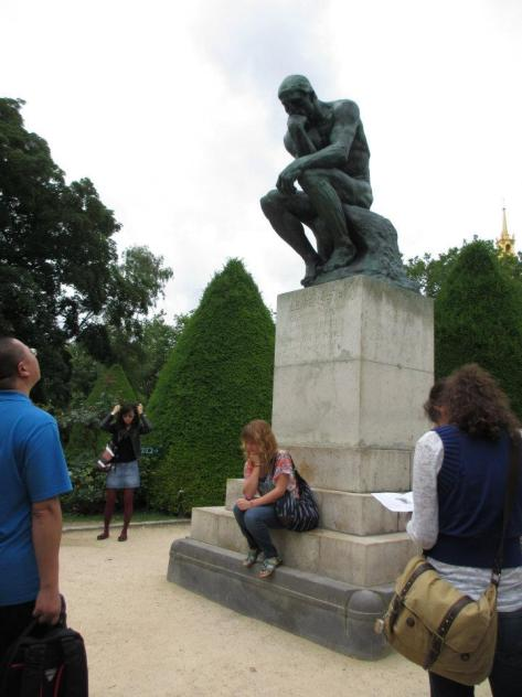 Me being conflicted in front of the Thinker in 2012.