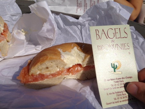 "Nothing particularly Parisian about a bagel sandwich named ""Brooklyn"" but it was delicious!"