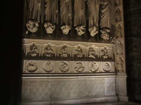 Alchemical symbols on Notre Dame