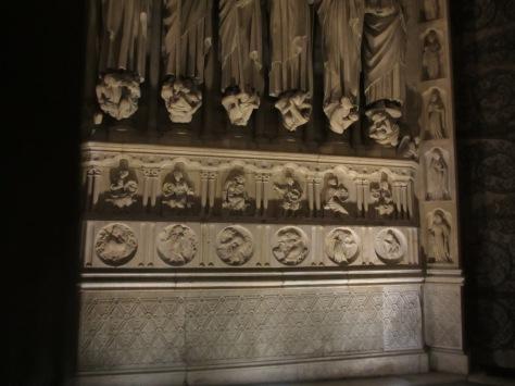 Alchemical symbols on Notre Dame