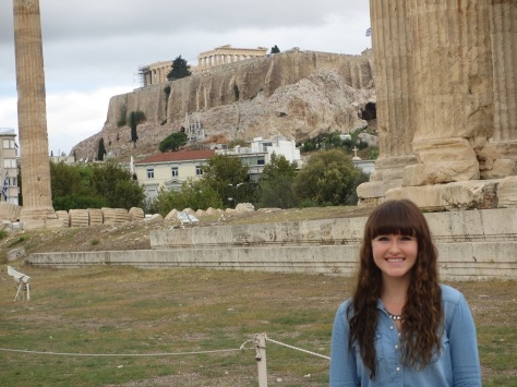 Ignore my face and Zeus' temple in the foreground. I'm talking about that mountain looking thing with the Acropolis on top.